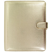 Buy Filofax Saffiano Special Edition A5 Personal Organiser, Gold Online at johnlewis.com