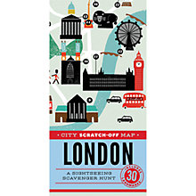 Buy City Scratch-off Map: London Online at johnlewis.com