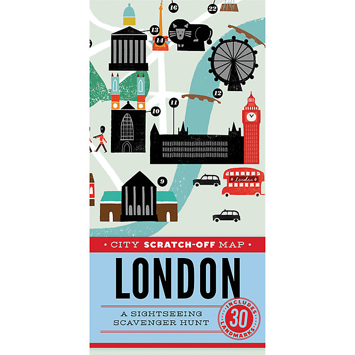 City Scratch-off Map: London (£10)