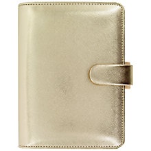 Buy Filofax Saffiano Special Edition Personal Organiser, Gold Online at johnlewis.com