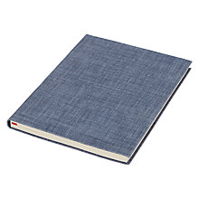 Buy John Lewis Coastal A5 Linen Notebook Online at johnlewis.com
