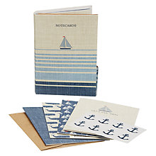 Buy John Lewis Coastal Note Cards, Set of 8 Online at johnlewis.com