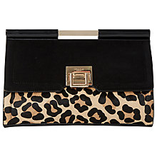 Buy Dune Eliana Top Bar Front Lock Clutch Bag Online at johnlewis.com