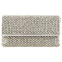 Buy Dune Eternity Beaded Clutch Bag, Silver Online at johnlewis.com