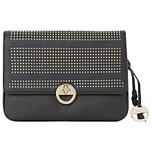 Buy Dune Elsa Stud Detail Clutch Bag, Black Online at johnlewis.com