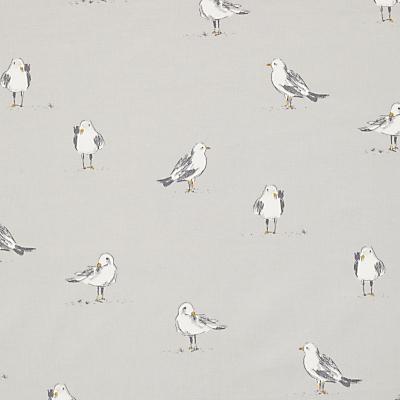 John Lewis Seagulls Furnishing Fabric, Smoke