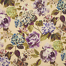 Buy John Lewis Antique Bouquet Curtain, Purple Online at johnlewis.com