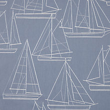 Buy John Lewis Sailing Blueprint Curtain, Blue Online at johnlewis.com