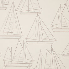 Buy John Lewis Sailing Blueprint Curtain, Oyster Online at johnlewis.com