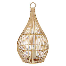 Buy Kaemingk Bamboo Large Lantern Online at johnlewis.com