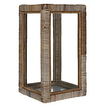 Buy Rattan Glass Lantern, Small Online at johnlewis.com