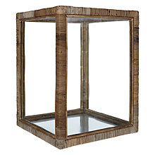 Buy Rattan Glass Lantern, Large Online at johnlewis.com