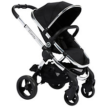 Buy iCandy Peach Pushchair with Chrome Chassis & Black Magic 2 Hood Online at johnlewis.com