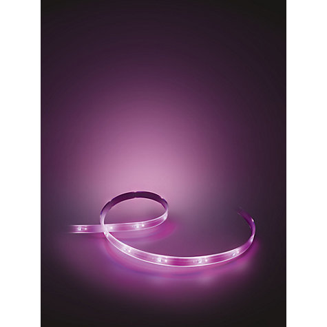 buy philips hue personal wireless lighting lightstrip plus 200cm led lightstrips kit john lewis. Black Bedroom Furniture Sets. Home Design Ideas