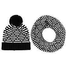 Buy John Lewis Knitted Diamond Snood and Pom Pom Beanie Set Online at johnlewis.com