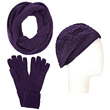 Buy John Lewis Checkerboard Snood, Beret and Cuff Gloves Set Online at johnlewis.com
