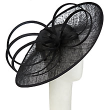 Buy John Lewis Lacey Side Up Disc Occasion Hat, Black Online at johnlewis.com