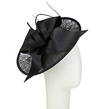 Buy John Lewis Zara Upturn Disc Occasion Hat, Black Online at johnlewis.com