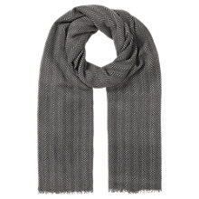 Buy Jigsaw Chevron Oversized Wool Scarf, Grey Online at johnlewis.com