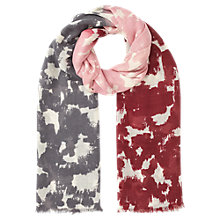 Buy Jigsaw Three Colour Animal Large Scarf, Pink Online at johnlewis.com
