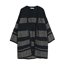 Buy Mango Metallic Detail Cardigan, Black Online at johnlewis.com