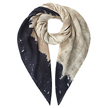 Buy Jigsaw Earthy Print Oversized Scarf, Natural Online at johnlewis.com