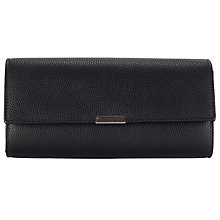 Buy John Lewis Bar Clutch, Black Pebble Online at johnlewis.com