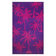 Buy John Lewis Palm Tree Beach Towel, Fuchsia Online at johnlewis.com