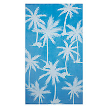 Buy John Lewis Palm Tree Beach Towel, Hawaiian Blue Online at johnlewis.com