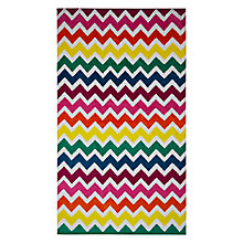 Buy John Lewis Multi Chevron Beach Towel Online at johnlewis.com