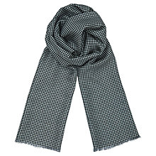 Buy Jigsaw Silk Wool Houndstooth Scarf Online at johnlewis.com