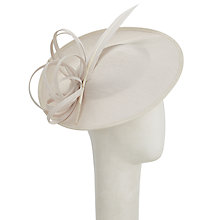 Buy John Lewis Erin 2 Shantung Disc Occasion Hat, Cream Online at johnlewis.com