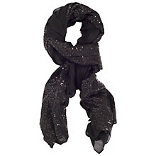 Buy Chesca Large Voile Sequin Scarf, Black Online at johnlewis.com