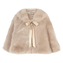 Buy Coast Carrie Faux Fur Tie Cape, Blush Online at johnlewis.com