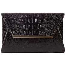 Buy Chesca Moc Croc Bag, Black Online at johnlewis.com