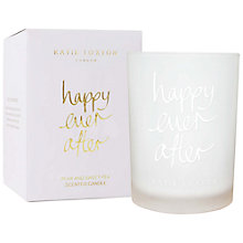 Buy Katie Loxton 'Happy Ever After' Pear and Sweet Pea Scented Candle Online at johnlewis.com