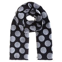 Buy Coast Sally Spot Scarf, Black/Grey Online at johnlewis.com