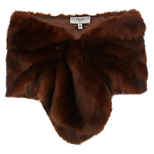 Buy Coast Elouisa Faux Fur Wrap, Tan Online at johnlewis.com