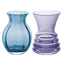 Buy Dartington Crystal Mini Gems Vases, Set of 2 Online at johnlewis.com