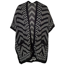 Buy Chesca Zig Zag Knit Wrap Jacket, Black/Charcoal Online at johnlewis.com