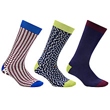 Buy Ted Baker Organic Spot and Stripe Sock Gift Set, 3 Pack, One Size, Multi Online at johnlewis.com