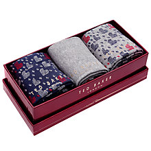 Buy Ted Baker Valentine's Day Sock Set, Pack of 3 Online at johnlewis.com