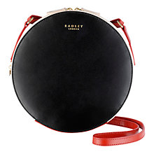 Buy Radley Portman Small Leather Across Body, Black Online at johnlewis.com