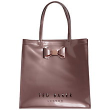 Buy Ted Baker Bowicon Large Bow Trim Shopper Bag Online at johnlewis.com