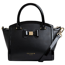 Buy Ted Baker Curved Top Bow Leather Tote Bag Online at johnlewis.com