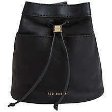 Buy Ted Baker Kashia Stab Stitch Leather Bucket Bag Online at johnlewis.com