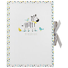 Buy John Lewis Zebra Baby Record Book Online at johnlewis.com