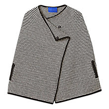 Buy Winser London Merino Wool Tweed Cape, Black/Ivory Online at johnlewis.com