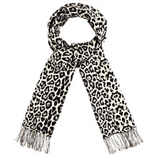 Buy Phase Eight Elen Animal Print Scarf, Black/White Online at johnlewis.com