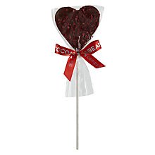 Buy The Cocoabean Company Raspberry Sprinkle Milk Chocolate Lolly, 30g Online at johnlewis.com